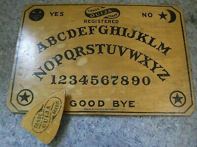 Rare Antique 1915 Wooden William Fuld of Baltimore Ouija Board With Planchette