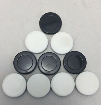 Othello Reversi Black and White Replacement game Pieces Chips Discs Lot of 9