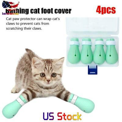 Funny Pets Cat Anti-Scratch Shoes Grooming Paw Protector Bathing Nail Cover US