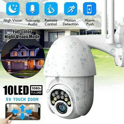 Waterproof Outdoor 1080P HD IP CCTV Camera WiFi PTZ Security Wireless IR Cam SET
