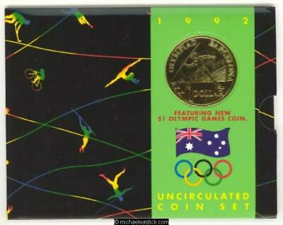 1992 $1 BARCELONA OLYMPIC GAMES COIN IN FOLDER RARE