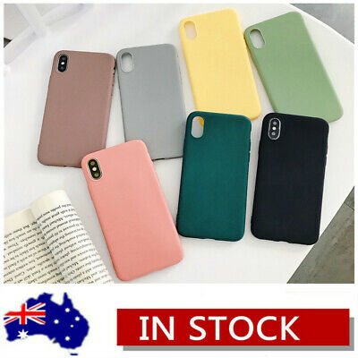 For iPhone 11 Pro Max XR 8 7 Plus Silicone Ultra Thin Slim Matte Soft Case Cover