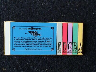 Disney Cast Member Magic Kingdom Ticket Book Limited Edition 2500 pin
