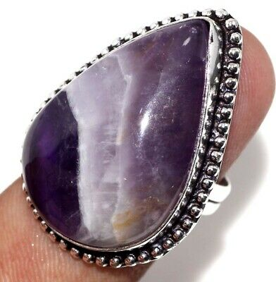 E7754 Amethyst Lace 925 Sterling Silver Plated Ring Us 9