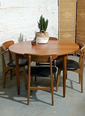 AustinSuite midcentury dining table and 4 chairs | teak | retro | vintage