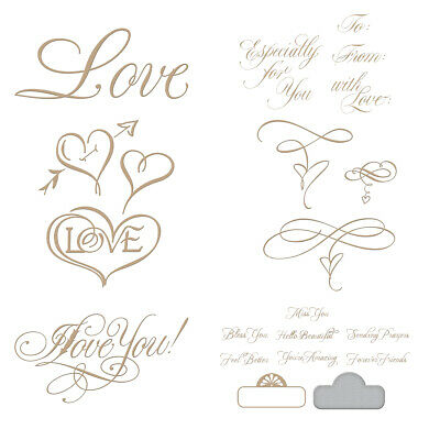 Fall in Love Metal Cutting Dies Stencil For Diy Scrapbooking Paper Cards Crafts