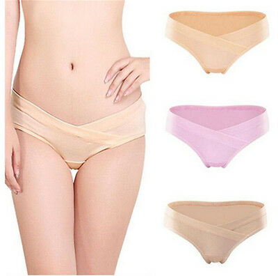Cotton Pregnant Lady Brief Underwear U-Shaped Low Waist Maternity Short Panties