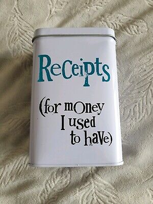 Receipts Tin - 'For Money I Used To Have' - Bright Side