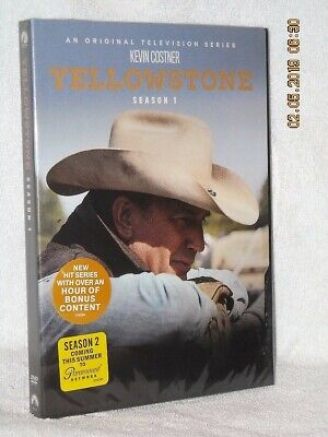 YellowStone Season One (DVD, 2018, 4-Disc) NEW western drama Kevin Costner