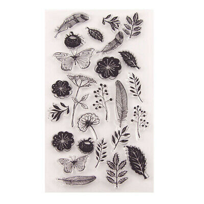 1pc Flower Silicone Clear Transparent Rubber Stamp DIY Scrapbook Notebook Craft