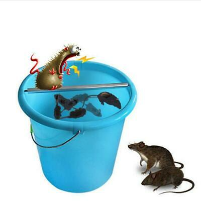 Steel Mice Trap Log Roll Into bucket Rolling Mouse Rats Stick Rodent Spin KS