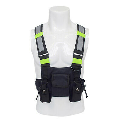 Outdoor Tactical Vest Chest Rig Bag Two Way Radio Chest Harness Holster Pouch