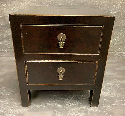 Small Chinese Antique Two Drawer Cabinet Circa 1920s