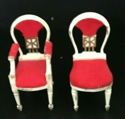 Vintage Petite Princess 1964 Fantasy Furniture Guest Dining Chairs Mint