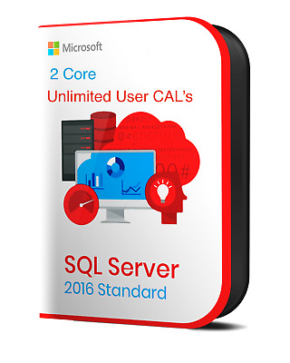 MS SQL Server 2016 Standard Product Key | 2 Core | - Instant Delivery
