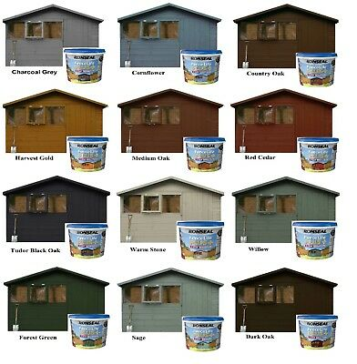 Ronseal Fence Life Plus Garden Shed Fence Paint 5L UV Potection  ALL Colours