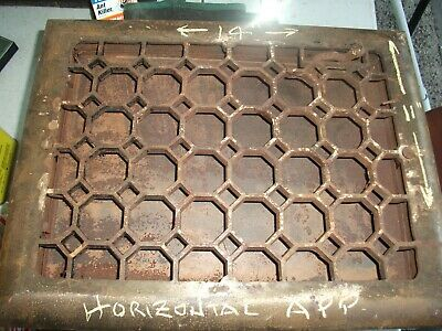 Heat Air Grate Wall Register 11 x 14 approx. OA  10 x 12 wall opening LQQK Hex