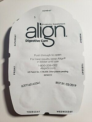 70 Align Probiotic Supplement Digestive Support Capsules 10 Week supply Exp 3/19