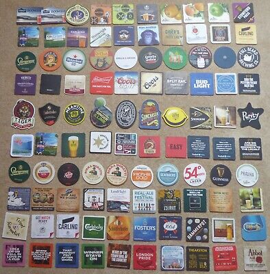 Beer Mats - 100 mats incl.Sharp's, T.Taylor, Marstons, Aspall, Stowford etc
