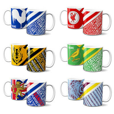 Retro Football Mug Vintage 60s Cup Tea Coffee Personalised Gift - ALL TEAMS