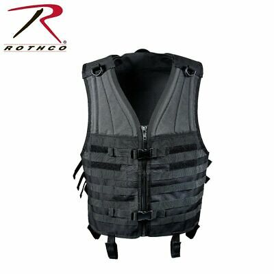 Rothco Combat Vest MOLLE Gear Modular Tactical Military Black NEW