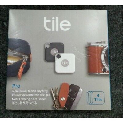 4 Pack Tile EC-18004 Pro Bluetooth Trackers Black And White Combo