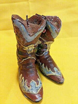 Country Western Worn Cowboy Boots Candle