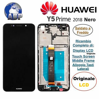Display LCD Touch Screen Middl Frame HUAWEI Y5 2018 Prime DRA-L01 Nero Originale