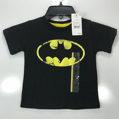 Batman Baby Boys Girls Size 12 Months Black Graphic Tee Shirt Short Sleeves