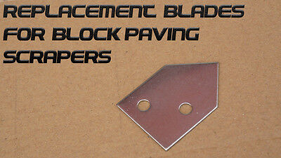 Stainless Steel replacement spare scraper blade for block paving patio brush