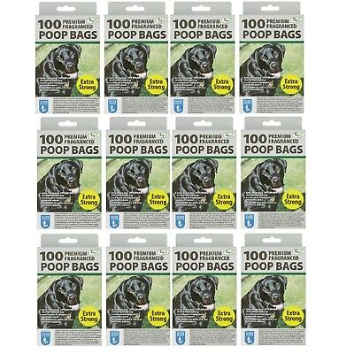 1200 Poop Bags Premium Fragranced Scented Disposible Extra Strong