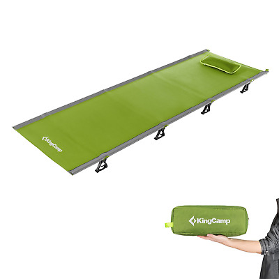 KingCamp Ultralight Compact Folding Camping Cot Bed, 4.9 Pounds Green
