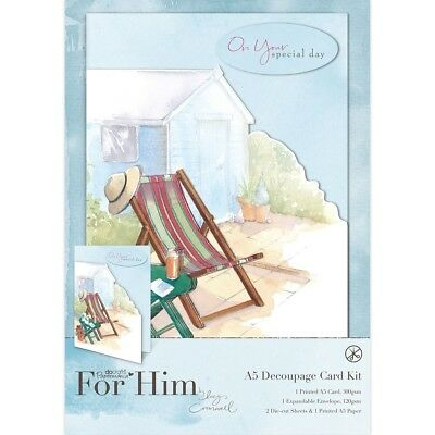 IN THE GARDEN - A5 DECOUPAGE CARD KIT - For Him Collection - Docrafts Papermania