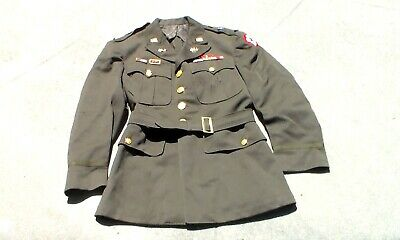 Old WW2 US 1942 dated Army Officer Dress Uniform Jacket Relic Used Condition