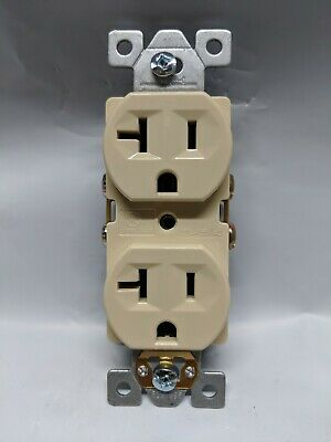(10 pc) NEW Standard Duplex Receptacles 20 Amp IVORY 20A Commercial Grade CR20