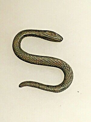 Awesome Vintage Snake - Wrought Iron S Hook - Snake Scale Detail