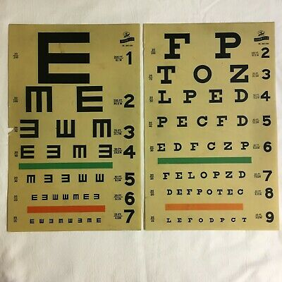 Vintage Medical/Surgical Instruments Lot #14 – Graham Field Eye Exam Chart