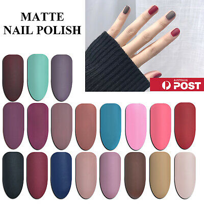 Carlo Rista Matte Nail Polish Black Pink Nude Color Nail Art Varnish Quick Dry