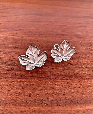 Rare Vintage Tiffany & Co. Sterling Silver Clip Earrings: Hammered Leaf 1981