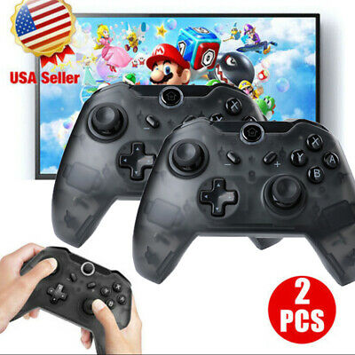 Wireless Pro Controller Remote Gamepad for Nintendo Switch Console Black / Blue
