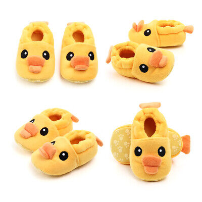 USA Baby Newborn Winter Warm Cartoon Plush Toddler Infant Soft Sole Shoes 0-18M
