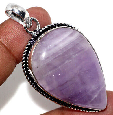 """E17124 Amethyst Lace 925 Sterling Silver Plated Pendant 2.2"""""""