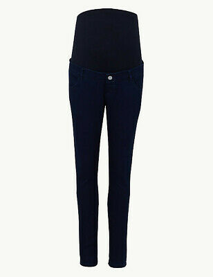 Marks and spencer maternity black jeanssize 8 straight over the bump panel