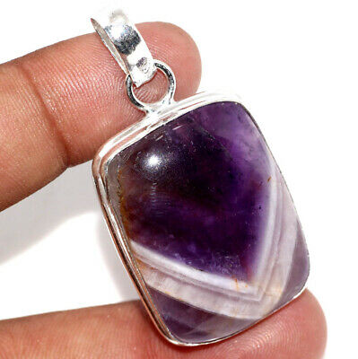"""E17391 Amethyst Lace 925 Sterling Silver Plated Pendant 2"""""""