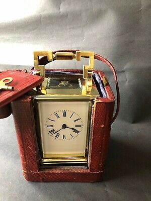 Antique Striking Carriage Clock French 8 day with original case c1900