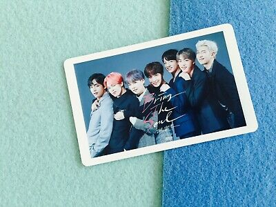 Bangtan boys BTS Bring the Soul Movie official photocard ticket Group