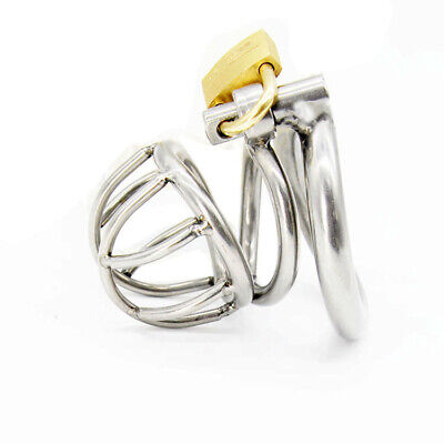 New Male Chastity Device Bird Lock Stainless Steel Small Cage -45mm