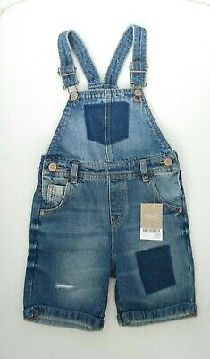 BNWT Next Boys Denim Dungarees  Age 4-5 years