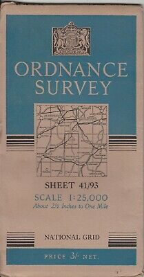 Ordnance Survey Cloth Map 1:25,000 Provisional Edition 41/93 (SU 93) Haslemere