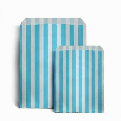 "CANDY STRIPE PAPER BAGS SWEET FAVOUR BUFFET GIFT SHOP PARTY  5 x 7"", 50 for £1"